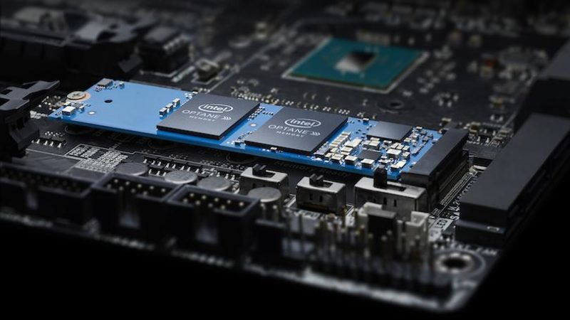 Motherboard with Intel Optane H10, Optane memory with SSD storage.
