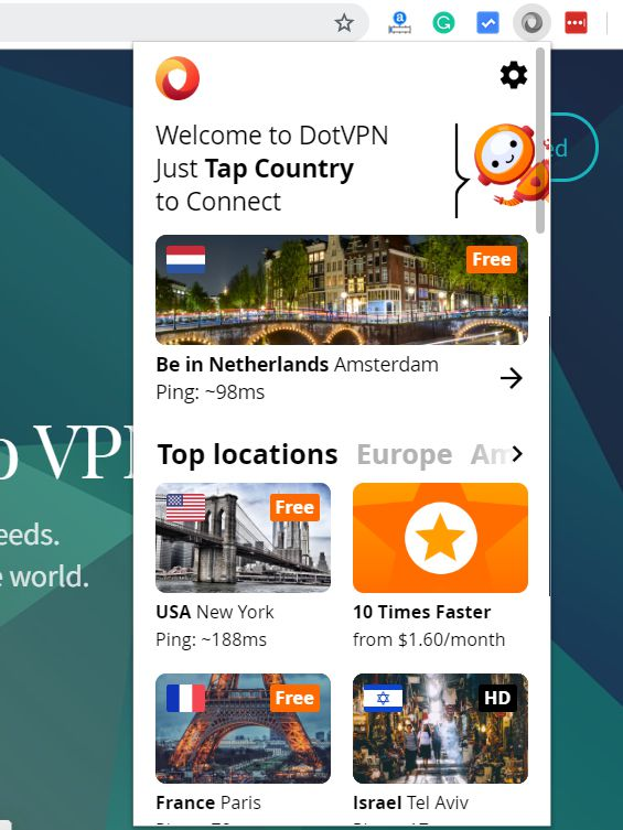 DotVPN Review: The Best Free VPN for Google Chrome in 2019